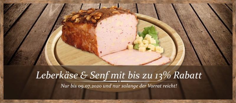 Leberkäse & Senf mit bis zu 10% Rabatt!