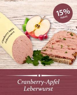 Cranberry-Apfel Leberwurst