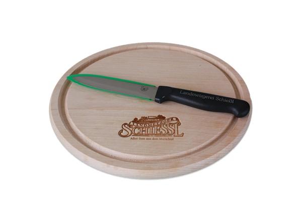 Brotzeitbrett mit Messer