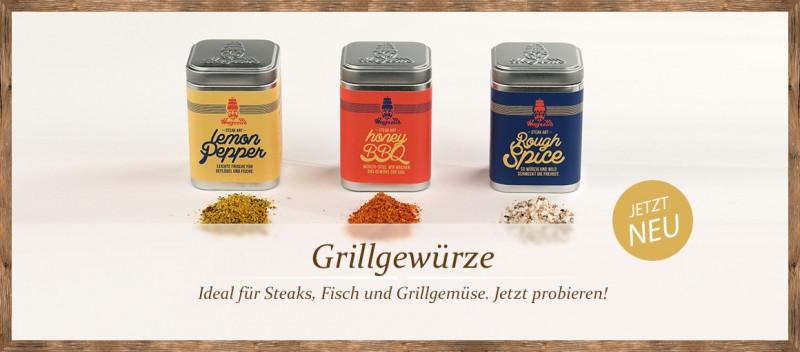 Grillgewürze für Steaks, Fisch und Grillgemüse!