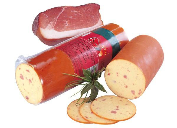 Jermi Käse-Räucherrolle mit Schinken