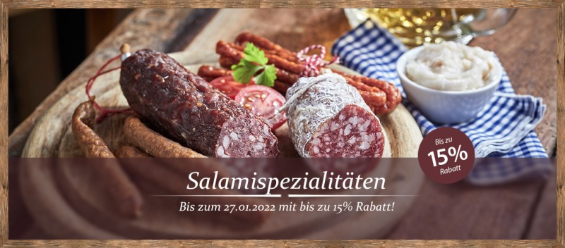 Salamispezialitäten mit bis zu 13% Rabatt!