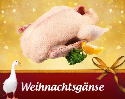 Frische bayerische Weihnachtsgänse